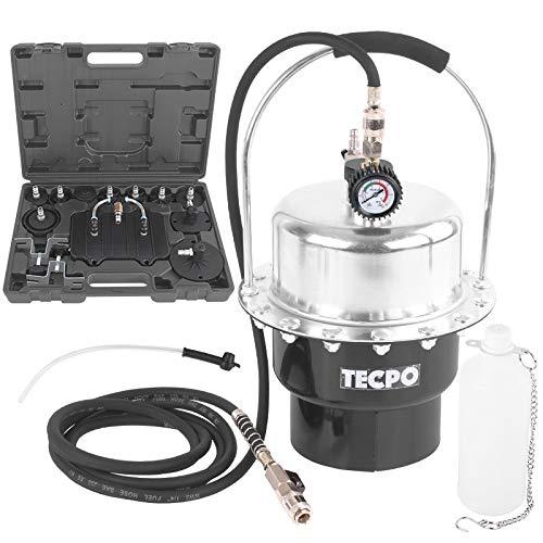TECPO Bremsenentlüftungsgerät 5 Liter Druckluft Bremsenentlüfter + KFZ Adapter 17-teilig