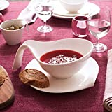 Villeroy & Boch - Flow Salatschale mit Griff, 600 ml, für Salate/Suppen/Saucen, Premium Porzellan, spülmaschinen-, mikrowellengeeignet, weiß - 3