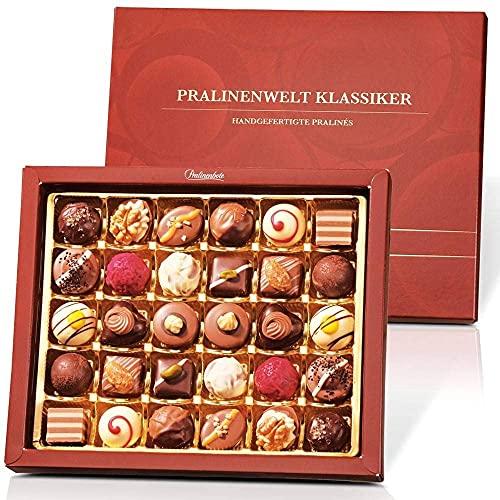 Pralinenbote – Pralinenwelt Klassiker mit 30 handgefertigte Pralinen deutscher Chocolatiers, das Pralinen Geschenk