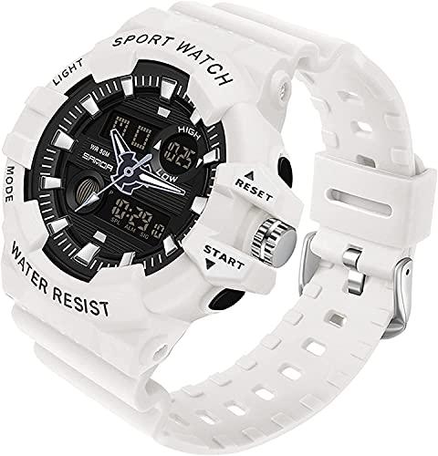 QHG Relojes Militares para Hombres Mujeres Deportes al Aire Libre Reloj Digital Reloj de Pulsera del ejército táctico DIRIGIÓ Reloj electrónomo de Doble Pantalla de cronómetro Impermeable