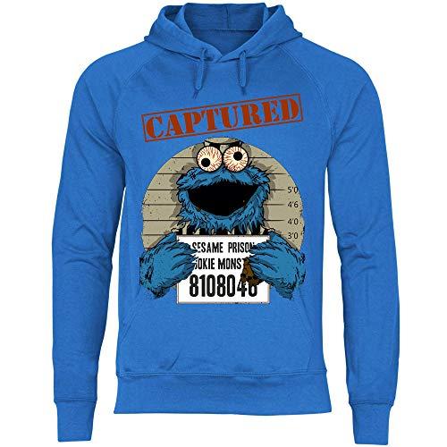 wowshirt Sudadera con Capucha Halloween Cookie Wanted Terror del Monstruo de la Galleta para Hombre, Tamaño:XXL, Color:Royal Blue
