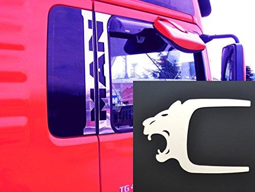6x Edelstahl Türfensterdekoration + Türgriff Löwe Abdeckungen für TGA TGX LKW