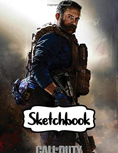 """Sketchbook: Ghosts Infinite Warfare Modern Warfare Call Of Duty Shooter Video Game World War II Paper for Kids, Gamer Teen, Taking Notes, Writing ... 109 Pages, 8.5"""" x 11"""". Kraft Cover Sketchbook"""