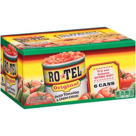 Rotel Original Diced Tomatoes & Green Chilies 10oz 6ct