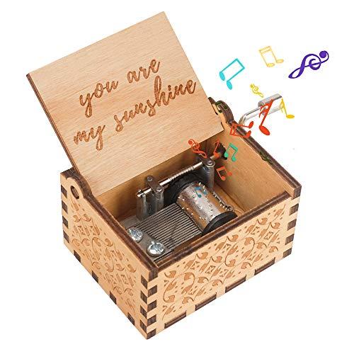 Regalo de cumpleaños para niña de 3-7 años, Mecanismo de Caja de música Juguete para niños de 3-9 años Cajas Musicales Retro para niños pequeños para niños de 2-10 años Regalos de San Valentín