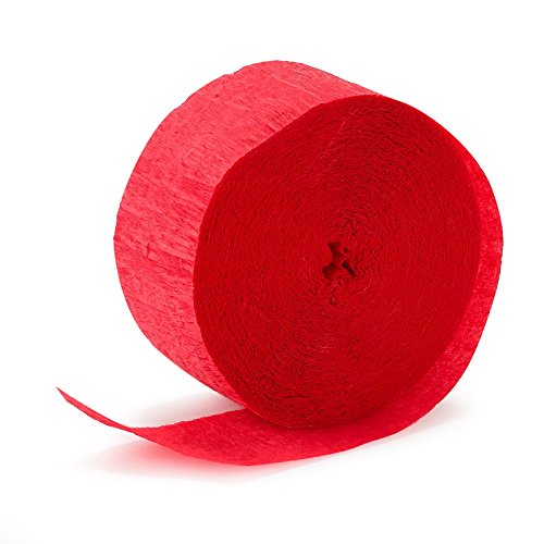 Party Crepe Streamer | Apple Red | 81' | Party Decor | 1 Ct. -