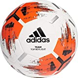 adidas Team Top Replique Ballon d'entraînement White/Orange/Black/Iron Metallic FR : Taille Unique (Taille Fabricant : 5)