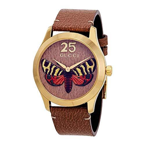 Reloj Gucci G-Timeless 38mm Caso de Oro Correas de Color Beige YA1264063