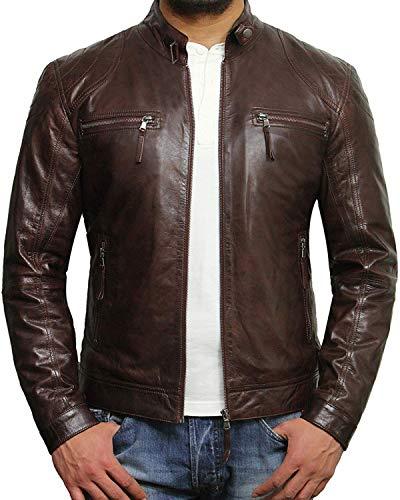 Men Leather Cafe Racer Jackets