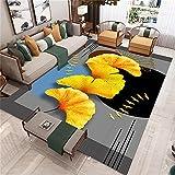 AU-SHTANG alfombras Infantiles Lavables Patrón de Hojas Amarillas Bebé Que se...