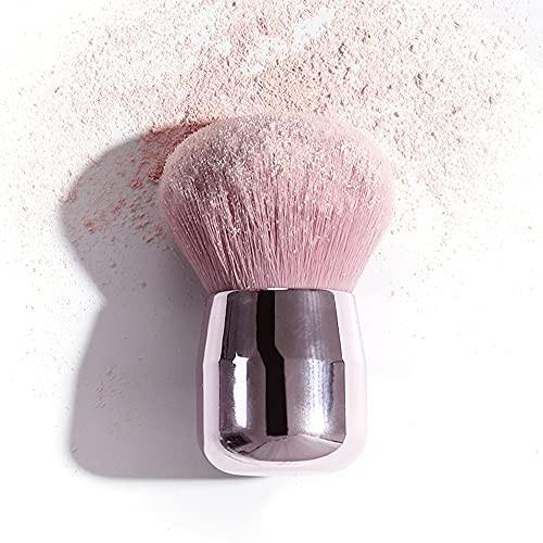 Aloces Brosse à Poudre,Doux Tête de Champignon Lâche Pinceau de Maquillage de Premier Poudre Maquillage Poudre Blush Pinceau Champignon Tête Ronde Pinceau de maquillage portable