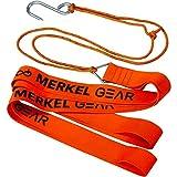 Wildbergehilfe Merkel Gear Deer Drag Bergehilfe Bergegurt Ziehgurt für Wild Signal-Orange bis 400kg Gewicht Zuglast Edelstahl