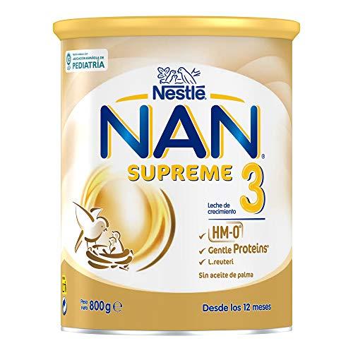 NAN - Nestlé Alimentos Infantiles Supreme 3, leche de crecimiento para bebé, 800 g