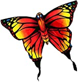 TREEECFCST Cometas para niños Cometa Infantil Cometas de Mariposa para Principiantes para Adultos y niños, Cometas fáciles de Volar con Cuerda y Carrete de Cometas, Viajes en la Playa Juguetes
