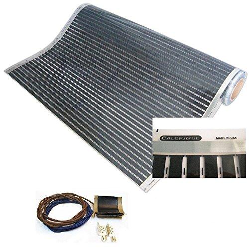 Espejo Calefacción, antivaho, Calor iQue de Infrarrojos de calefacción Set de, 50cm x 100cm, 75W