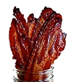 WARNING : Our Candied Bacon Jerky is VERY Addictive! MADE TO ORDER : Meaning You Get FRESH Bacon Jerky Every Time. Guaranteed! NATURAL THICK CUT BACON : Made in the USA with 100% THICK CUT Hickory Bacon. GLUTEN FREE AND NO MSG CANDIED BACON JERKY : T...