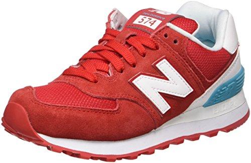 New Balance 574 Suede, Zapatillas Mujer, Rojo (Red), 37.5 EU