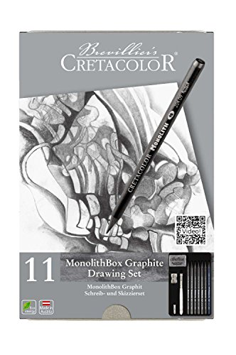 Cretacolor 204 30 Monolith Set 11 Pieces with Eraser and Sharpener