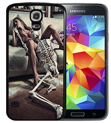 S4Fall Samsung Galaxy S4schwarz Cover TPU Gummi Gel–Retro Rose Totenkopf, A00-39