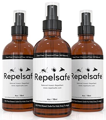 Tick Repellent For Humans & Natural Bug Spray For Kids By RepelSafe - Bug Repellent Spray For Ticks, Mosquitoes, Fleas, Flies, Gnats, Etc. Natural Bug Repellent Bug Spray For Kids Travel Size (1, 4oz)