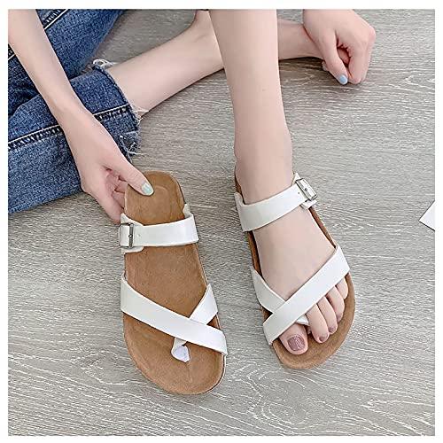 WOERD Sandalias Ortopédicas Correctoras de Juanetes para Mujer Big Toe Flop Open Toe Casual Summer Beach Sandals, Arch Support Sandalias Planas Cómodas para Mujer