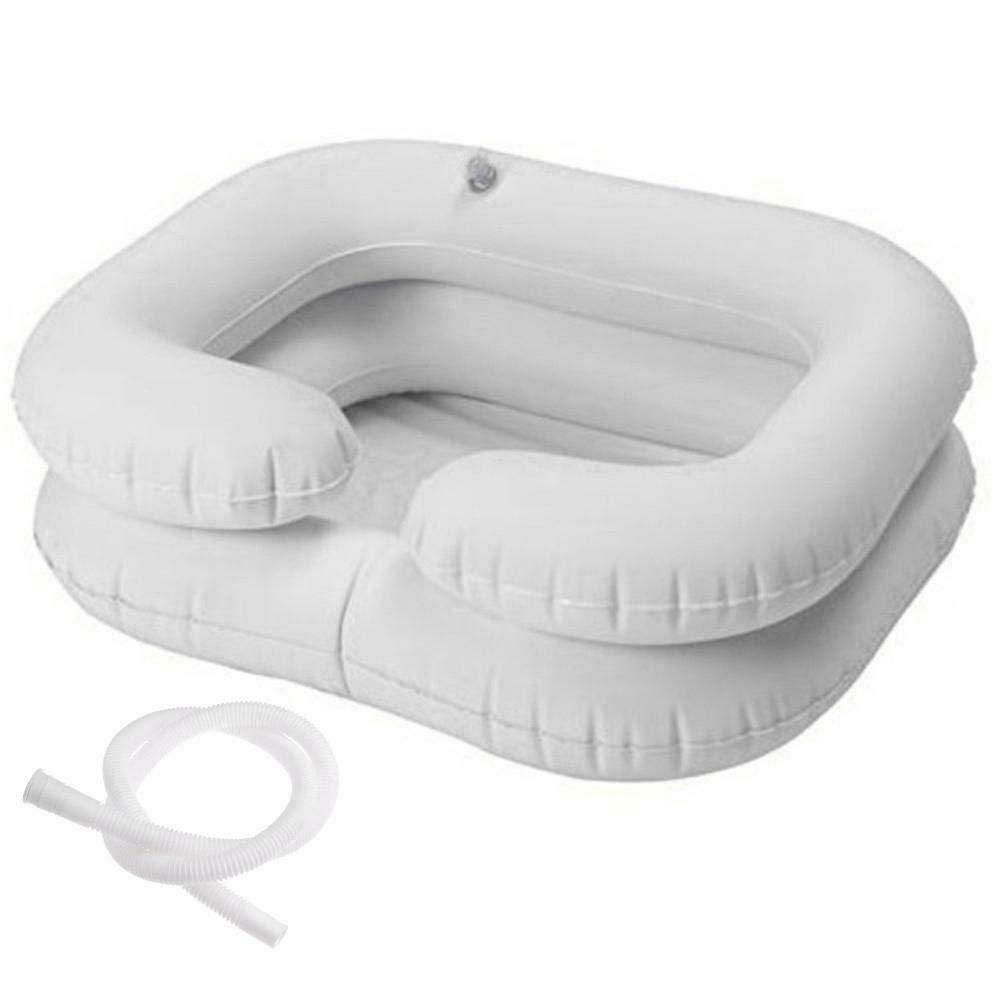 Portable Inflatable Shampoo Basin for Bedside and in Bed for Elderly, Disabled, Pregnant, Injured, Bedridden, Handicapped. Wash Hair in Bed Shampoo Bowl with Drain Tube Use for Washing Coloring Hair : Health & Household