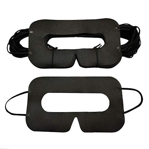 YinQin Universal Einweg VR Eye Cover VR Maske Cover für VR, VR Eye Maske Einweg Gesichts Cover für VR, VR Einweg Cover, VR Augen Cover, Schwarz (50 Stück)