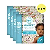 The Honest Company Baby Diapers with TrueAbsorb Technology, Forest Floor, Size 4, 92 Count