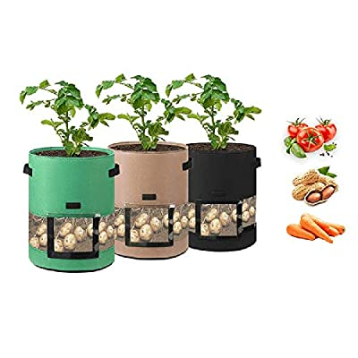 Amazon - Save 50%: CeqCin 3PCS 7 Gallon Grow Bags for Vegetables Fruits and Plants Heavy Duty N…