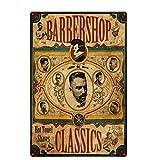 Original Design Classic Barbershop Tin Metal Wall Art Signs,Thick Tinplate Print Poster Wall Decoration