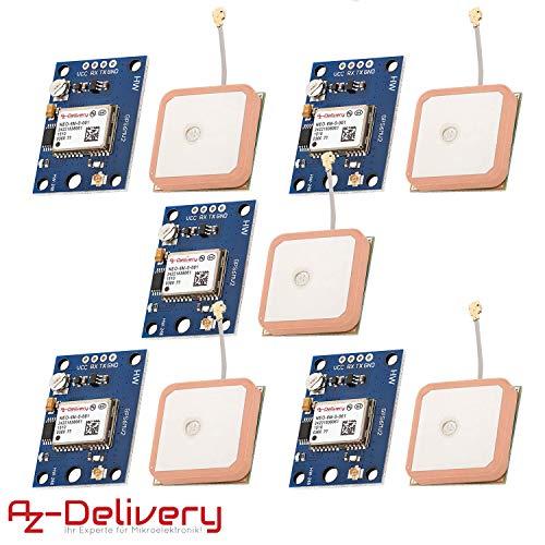AZDelivery 5 x NEO-6M GPS Modul für Raspberry PI inklusive E-Book!