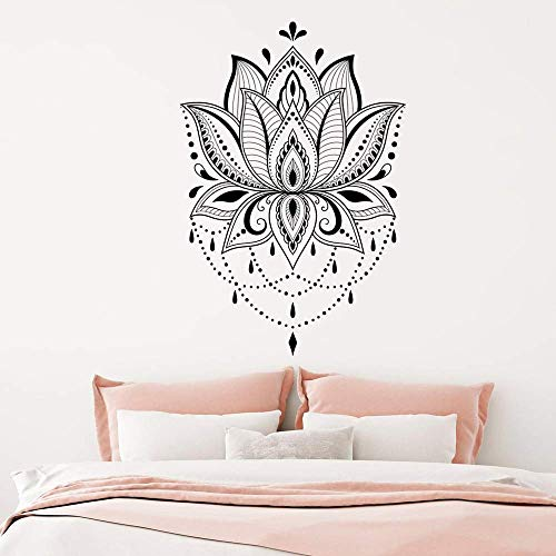 Lotus Wandtattoo Mandala Yoga Applique Studio Home Aufkleber Lotus Wand 62X42 Cm