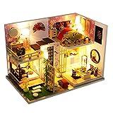 Ntribut DIY Mini Dollhouse Kit De Muebles De Madera Casa De Muñecas De Madera Cabaña Hecha A Mano Cabaña Pequeña Casa Casa De Muñecas Creativa Juguetes para Niños Regalo