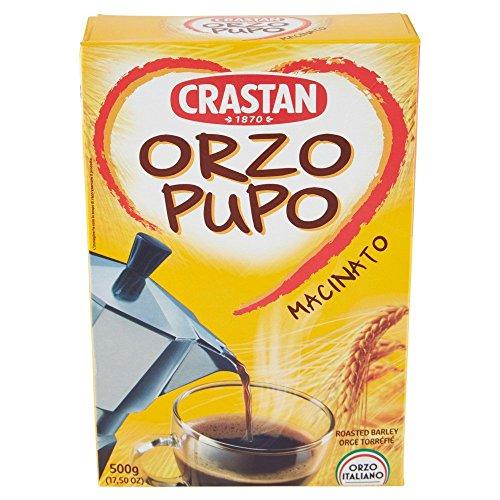 Crastan - Italian Roasted & Ground Barley [Orzo Pupo Macinato], (1)- 17.5 oz. Box