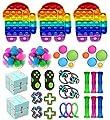 Fidget Toy Packs, Set De Juguetes Sensoriales Fidget Baratos con Simple Dimple Pop Bubble Infinite Cube Stress Ball y Anti Stress Relief Toy Stress Ball (22 Piezas F) de YCYC