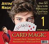 Jeffini's Card Trick kit - Magic Card Tricks for Adults, Kids & Teens, Includes Svengali Deck, Stripper (Wizard) Deck, Marked Deck, The Wild Card Trick Plus 3 Card Trick Books - Over 325 Card Tricks