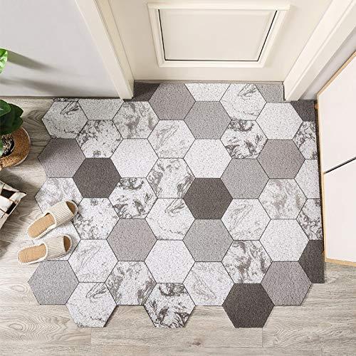 Corte nórdico impreso portafombra de la alfombra de la alfombra PVC de la seda del piso del piso alfombrillas de la entrada de la sala de estar de la alfombra de la sala de estar de la sala de estar d