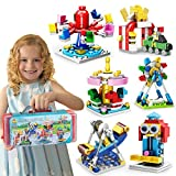 Girls Friends Building Blocks Sets Toy,6-Models Carousel Ferris Wheel Playground City Bricks Toys,STEM Construction Kits for Kids,Princess Girls Toys Gifts for Age 6-12 Years Old