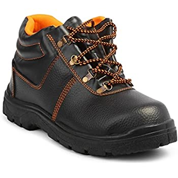 Neosafe Spark A5005 Labour Safety Shoes, Black, Size 6