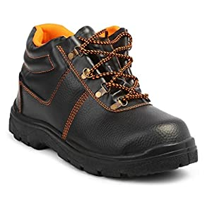 Neosafe Spark A5005 PU Leather Labour Safety Shoes, Black