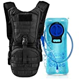 VBG VBIGER Tactical Molle Hydration Pack Water Backpack with 2L TPU Water Bladder - Military Daypack for Cycling Hiking Running Climbing Hunting Biking