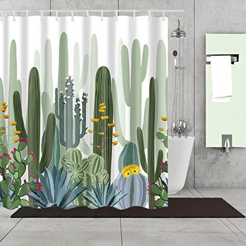 xkjymx Geometrie Berühmte Wandbehang Sonnenblume Wandteppich Dekorative Kaktus Duschvorhang waschen Badezimmer Dusche wasserdicht