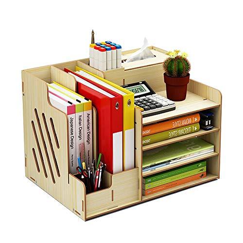 Schreibtisch-Organizer aus Holz, großes Fassungsvermögen, Aufbewahrungsbox für Bürobedarf Weißes Ahorn