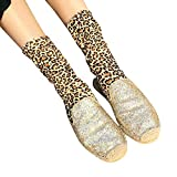 Yellow One Size Culater 2018 New Ladies Womens Tube Leopard Print Socks Casual