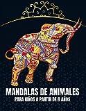 Mandalas de animales para niños a partir de 8 años: 65 fantásticos mandalas de animales para niños de 4-8,8-10 años para colorear y como copia maestra para profesores.