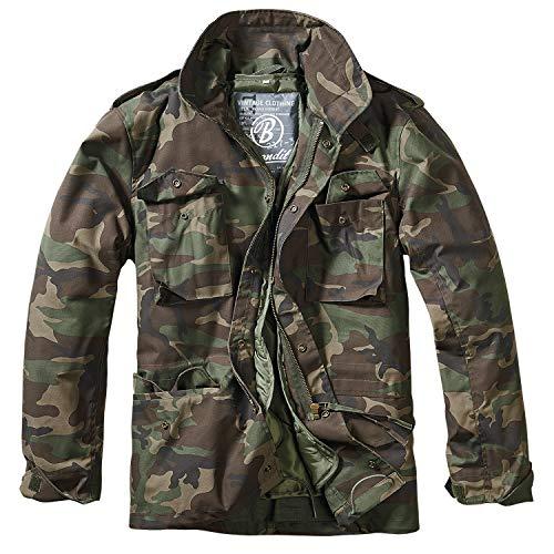 Brandit, M65 Field Jacket per Uomo Classic, Woodland L