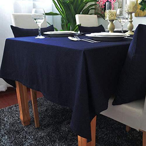 Rechthoekig Katoenen Linnen Tafelkleed, Pure Kleur Rechthoekig Tafelkleed Voor Thuis Hotel Restaurant Restaurant, Decoratief Tafelkleed Voor Familiebijeenkomsten,140x250cm(55x98in)