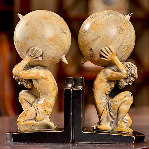 Archimedes boekensteunen, Amerikaanse land kunstambacht, cijferbeeldhouwwerk hars boekensteunen, eenvoudige stijl home decoration