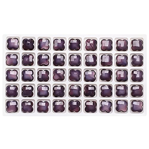 MURUI ZZ 30 unids 12 mm Forma de trébol de Cuatro Hojas Granos de pétalos de Vidrio para Bricolaje Haciendo el Collar de Cristal Collar Accesorios Colgantes artesanía YC804 (Color : 13)
