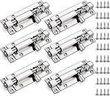 6 Stück Sicherheitstürriegel aus Edelstahl mit 36 Schrauben Schiebeschloss Türriegel Riegel Schiebetürschloss Schieberiegel für alle Innentüren